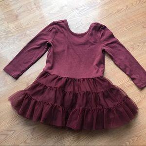 Burgundy Tutu Dress